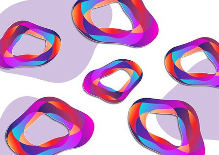 Creative geometric colorful flowing shapes from colorful parts. Design for print, posters, cards, etc. Vector illustration for your design. Banque d'images - 133100022