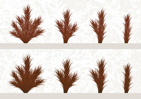 Fir branches and parts of branches set. Different parts of plants to make a Christmas tree. Vector illustration Banque d'images - 133152243