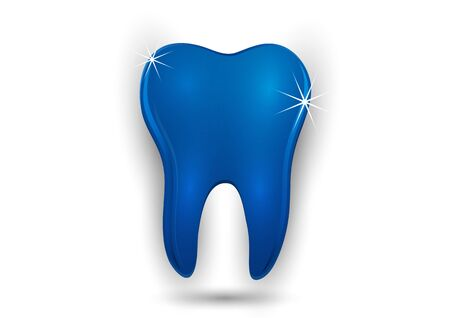 Healthy tooth icon. Flat design style. Tooth simple silhouette. Modern, minimalist icon in stylish colors. Website page design element and mobile application, brochure design, banner, flyer. Vector illustration Banque d'images - 133245448