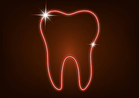 Healthy tooth icon. Flat design style. Tooth simple silhouette. Modern, minimalist icon in stylish colors. Website page design element and mobile application, brochure design, banner, flyer. Vector illustration Banque d'images - 133254221