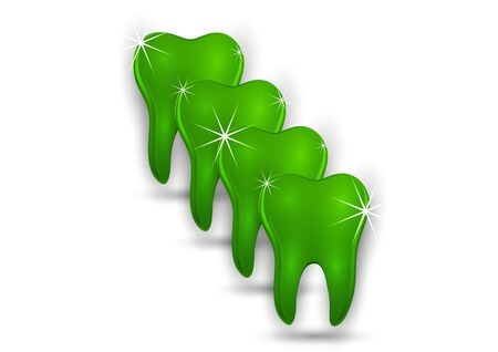 Healthy tooth icon. Flat design style. Tooth simple silhouette. Modern, minimalist icon in stylish colors. Website page design element and mobile application, brochure design, banner, flyer. Vector illustration Banque d'images - 133254381