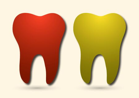Healthy tooth icon. Flat design style. Tooth simple silhouette. Modern, minimalist icon in stylish colors. Website page design element and mobile application, brochure design, banner, flyer. Vector illustration Banque d'images - 133271139