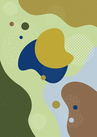 Creative background in minimal trendy style. Abstract shapes, waves, circles, dots. Design for cover, poster, website background or advertisement. Banque d'images - 133345230