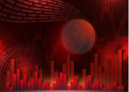 Futuristic concept of the global economy, trading, global financial technology. Economic trends, idea of business or digital network. Abstract digital background. Banque d'images - 133345297