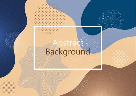 Creative background in minimal trendy style. Abstract shapes, waves, circles, dots. Design for cover, poster, flyer, website background or advertisement. Vector illustration