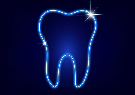 Healthy tooth icon. Flat design style. Tooth simple silhouette. Modern, minimalist icon in stylish colors. Website page design element and mobile application, brochure design, banner, flyer. Vector illustration Stockfoto - 134673717