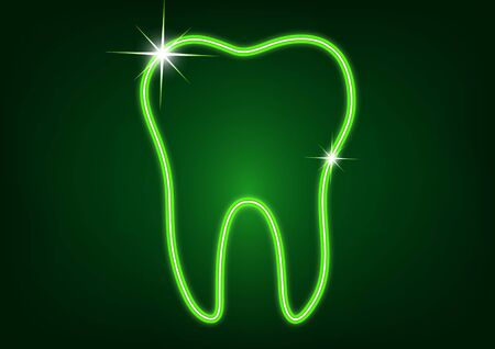 Healthy tooth icon. Flat design style. Tooth simple silhouette. Modern, minimalist icon in stylish colors. Website page design element and mobile application, brochure design, banner, flyer. Vector illustration