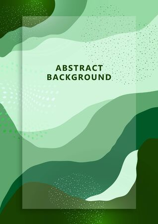 Bright abstract background, colored waves, dots. Universal art template. Modern graphic design for banners, business cards, invitations, gift cards, flyers, brochures. Vector illustration Imagens - 133930559