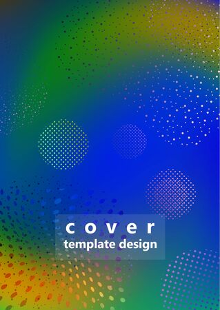 Bright mixed color background in the form of a whirlpool with dots and particles. Modern dynamic graphic design for business cards, invitations, gift cards, flyers, brochures. Vector illustration