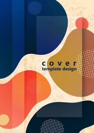 Abstract fluid background composition with vibrant color and dynamic shape. Trendy design template for flyers, banners, invitations, special offers and much more. Vector illustration