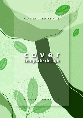 Creative bright abstract background with leaves. Template for your design with space for text. Vector illustration 向量圖像