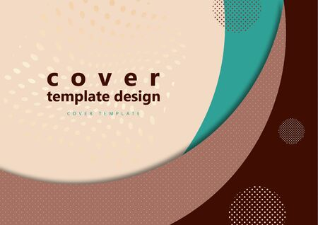 Abstract minimal geometric round circle shapes. Modern creative corporate design. Trending background for business. Vector illustration