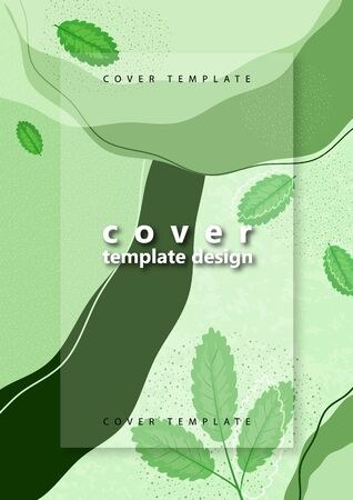 Creative bright abstract background with leaves. Template for your design with space for text. Vector illustration Ilustração