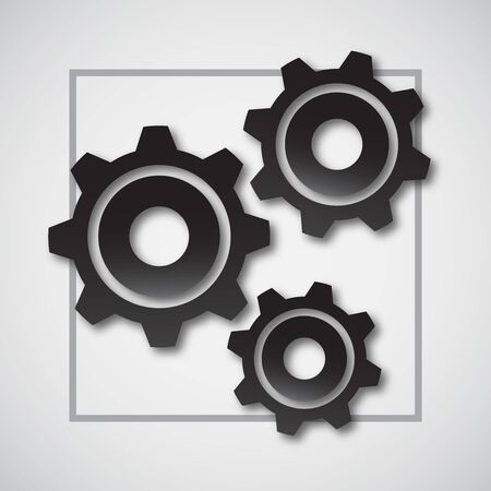Gear wheel and development icon. The concept of organizational movement. Vector illustration for your design.