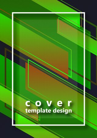 Abstract colorful geometric composition background of bright diagonal stripes and lines, frame for text. Dynamic, stylish design. Template for banners, flyers, posters, brochures. Vector illustration
