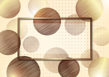 Abstract circles from doodles on a white background, halftone. Frame for text. Template for your design. Vector illustration Standard-Bild - 138468793