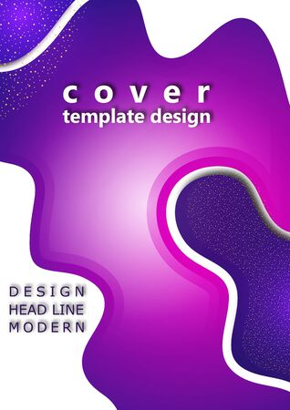 Modern geometric wave pattern background, dynamic shapes, small particles, bright colors. Cover design, poster, flyer, book design. Vector illustration