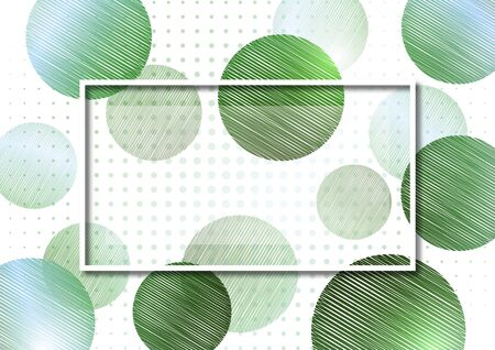 Abstract circles from doodles on a white background, halftone. Frame for text. Template for your design. Vector illustration Illusztráció