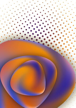 Round smooth triangular stones with a gradient mesh. Colorful liquid shapes for poster, banner, flyer and presentation. Fashionable soft colors and a smooth blend. Vector illustration