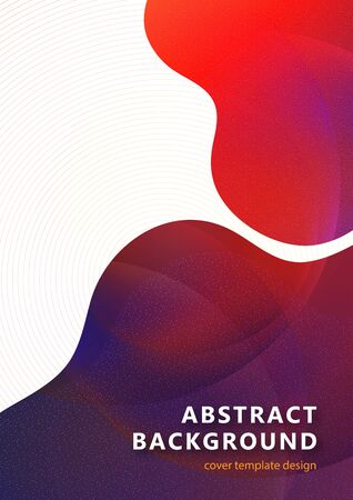 Bright smooth wavy shapes, transparency, many particles. Corporate design template, digital curve, presentation element, banner design. Vector illustration