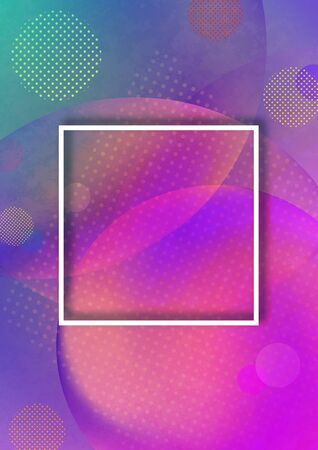 Bright abstract background from transparent circles, gradient colors. Place for text. Modern design template for banners, flyers, covers. Vector illustration