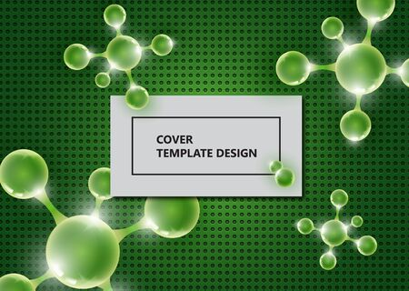 Abstract background with molecules and atoms. Medical, scientific and technological concepts. Bright modern design. Vector illustration