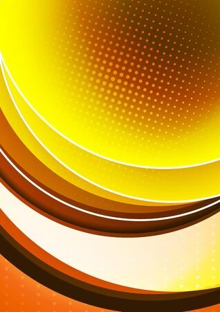 Bright abstract background with arcs and transparent half circles, halftone. Modern template for your design. Vector illustration