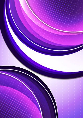 Bright abstract background with arcs and transparent half circles, halftone. Modern template for your design. Vector illustration Ilustrace