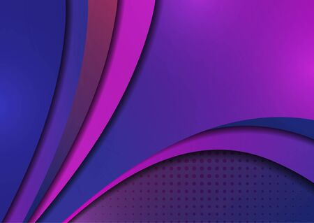 Abstract colorful background of shiny smooth wavy lines and curved shapes. Template for a business project. Vector illustration for your design.