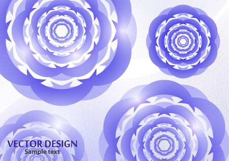 Round geometric abstract ornament mandala on a light background. Floral decorative element. Vector illustration for your design.