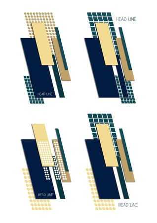 Geometric icons set. Fashionable minimalistic design. Template for logo design, flyer or presentation. Vector illustration