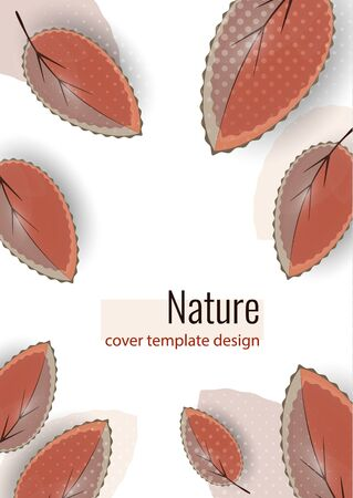 Bright colored leaves on white. Creative abstract background for your design. Vector illustration