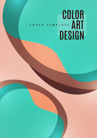 Bright abstract background with overlapping smooth shapes. Trendy template for wallpaper, banner, background, card, book illustration, landing. Vector illustration Stock Illustratie