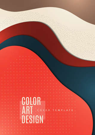 Bright abstract background with overlapping smooth shapes. Trendy template for wallpaper, banner, background, card, book illustration, landing. Vector illustration Ilustração