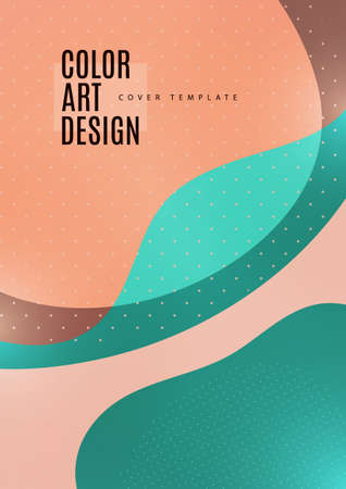 Bright abstract background with overlapping smooth shapes. Trendy template for wallpaper, banner, background, card, book illustration, landing.