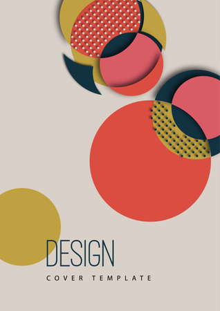 Bright colorful cut parts of a circle, decorative dots. Modern abstract background. Design layout for business presentations, flyers, posters and invitations. Vector illustration.