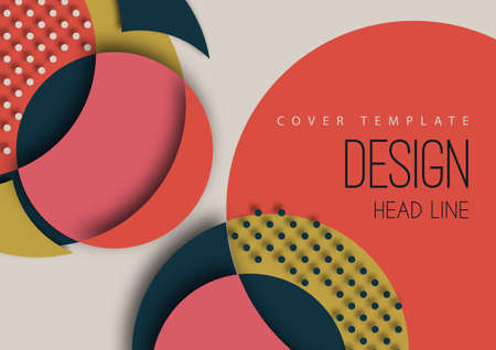 Bright colorful cut parts of a circle, decorative dots. Modern abstract background. Design layout for business presentations, flyers, posters and invitations.
