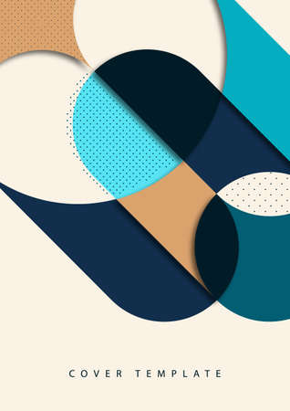 Abstract background with colorful paper cut shapes. Corporate design. Template for a poster, banner, business card, postcard.
