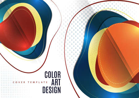 Smooth abstract intersecting shapes. Colorful advertising banner for sale. Seasonal discounts. Template with copy space for marketing.