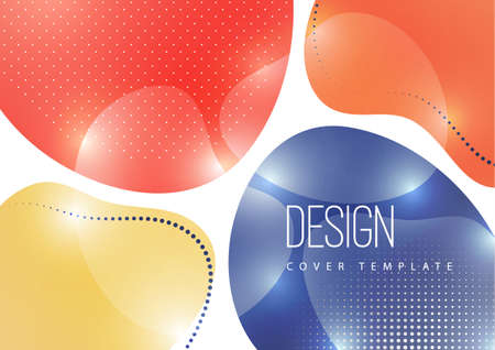 Bright, dynamic, smooth shapes. Colorful geometric background pattern. Template for corporate design, flyer or presentation.