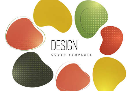 Smooth abstract shapes. Colorful advertising banner for sale. Seasonal discounts. Template with copy space for marketing. Vector illustration