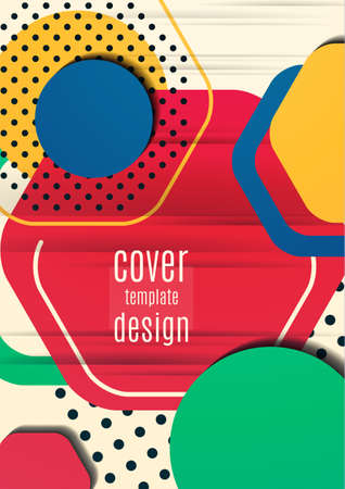 Abstract background of bright geometric shapes. Design template for presentation, leaflet, flyer, cover, brochure, report, advertisement Vector illustration Standard-Bild - 154203580