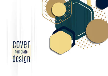Abstract background of bright geometric shapes. Design template for presentation, leaflet, flyer, cover, brochure, report, advertisement Vector Illustration