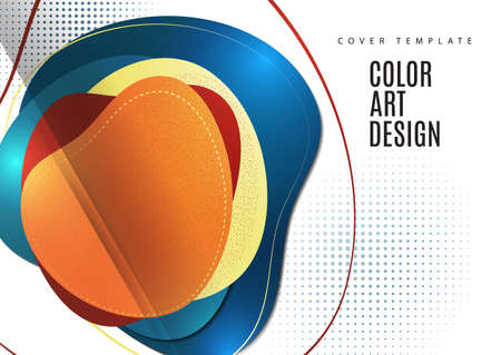 Smooth abstract intersecting shapes. Colorful advertising banner for sale. Seasonal discounts. with copy space for marketing. illustration Standard-Bild - 154922964
