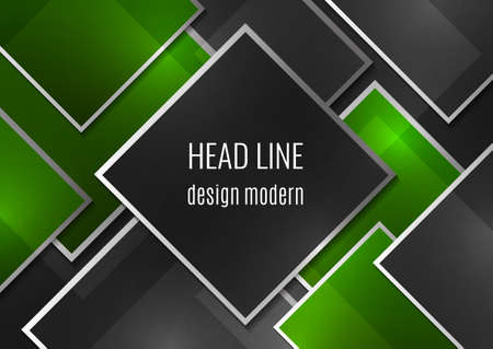 Overlapping geometric squares with thin lines. Template for business design. Vector illustration Ilustração