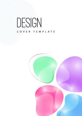 Bright, dynamic, smooth shapes. Colorful geometric background pattern. Template for corporate design, flyer or presentation. illustration