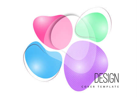 Bright, dynamic, smooth shapes. Colorful geometric background pattern. Template for corporate design, flyer or presentation. Vector illustration Standard-Bild - 154203582