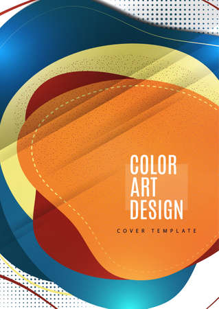 Smooth abstract intersecting shapes. Colorful advertising banner for sale. Seasonal discounts. Illustration