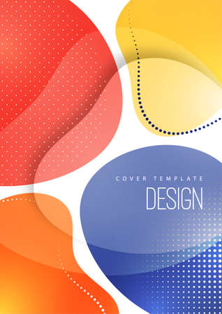 Bright, dynamic, smooth shapes. Colorful geometric background pattern.