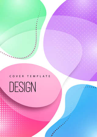 Bright, dynamic, smooth shapes. Colorful geometric background pattern. Standard-Bild - 154105778